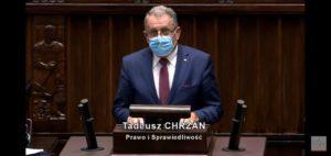 Wystąpienie Posła na Sejm RP Tadeusza Chrzana podczas 20 posiedzenia Sejmu RP