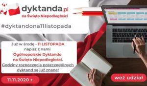 Ogólnopolskie Dyktando na Święto Niepodległości