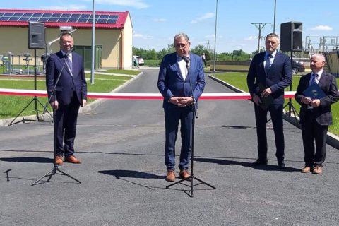 Otwarcie oczyszczalni ścieków w miejscowości Święte, Gmina Radymno
