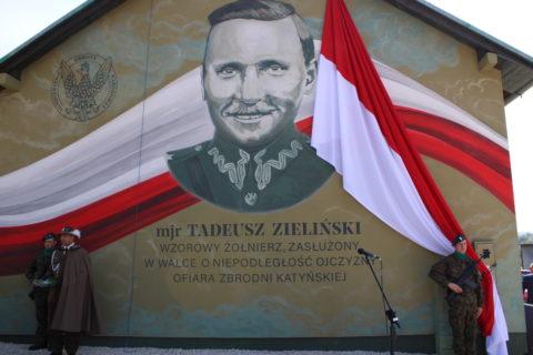 Odsłonięcie muralu upamiętniającego mjr Tadeusza Zielińskiego
